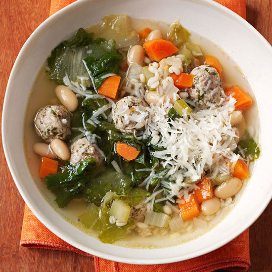Meatball and Barley Soup