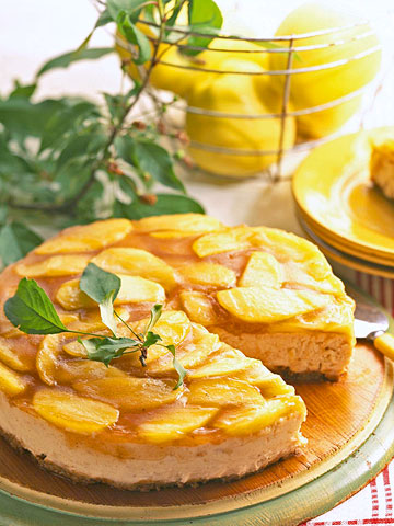 Butterscotch Apple Cheesecake