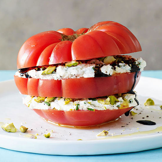 Tomato and Goat Cheese Stacks