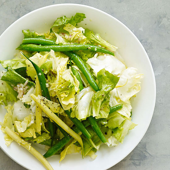 Beans and Greens with Sherry-Shallot Vinaigrette