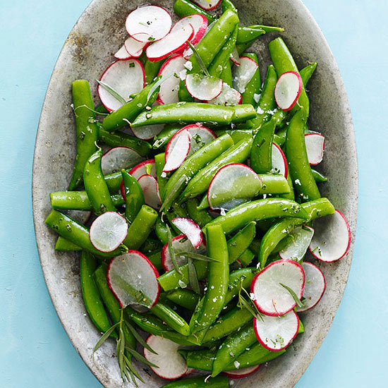 Snap Peas and Radishes