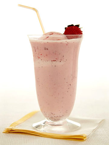 Triple Strawberry Float