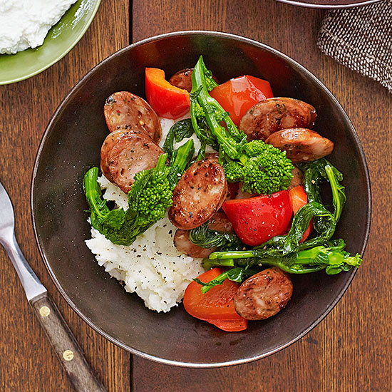 Sausage, Peppers and Broccoli Rabe
