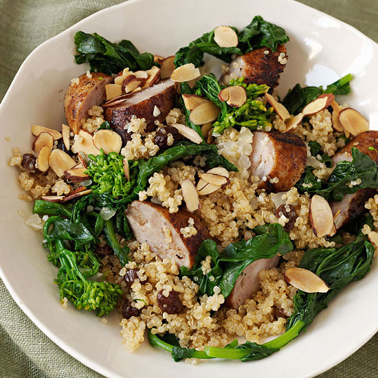Chicken-Apple Sausage Quinoa
