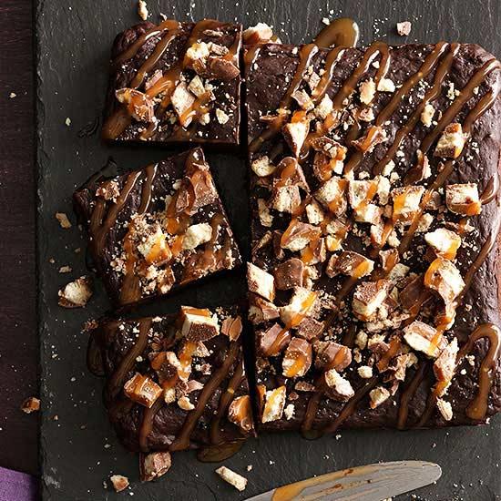 Stuffed Chocolate-Caramel Brownies