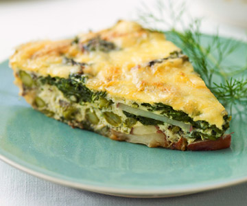 Asparagus and Spinach Frittata