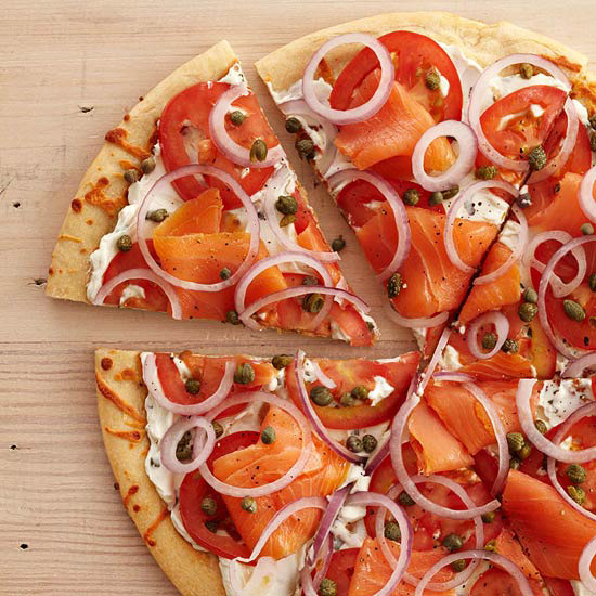 Smoked Salmon Breakfast Pizza