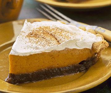 Caramel-Pumpkin Layered Pie