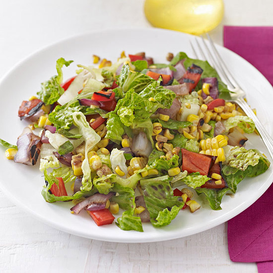 Chopped Salad with Roasted Corn Relish