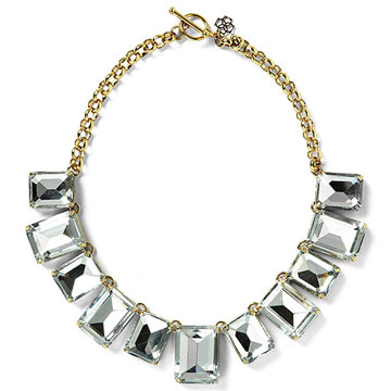 Faceted Squares Statement Necklace