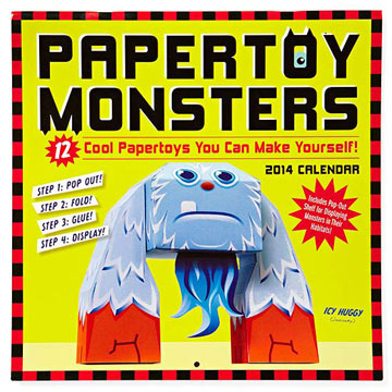 Papertoy Monsters 2014 Wall Calendar