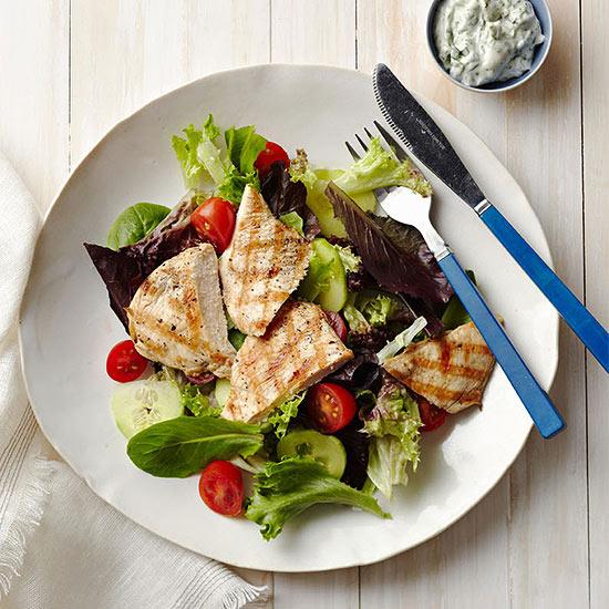 Grilled Chicken Cutlet with Basil-Tarragon Aioli
