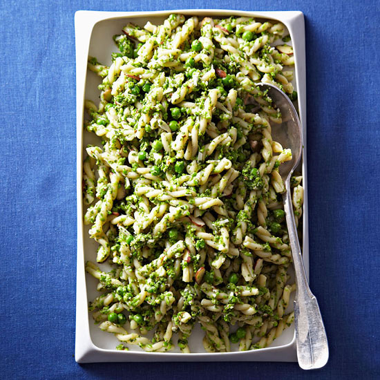 Gemelli with Mint-Pea Pesto