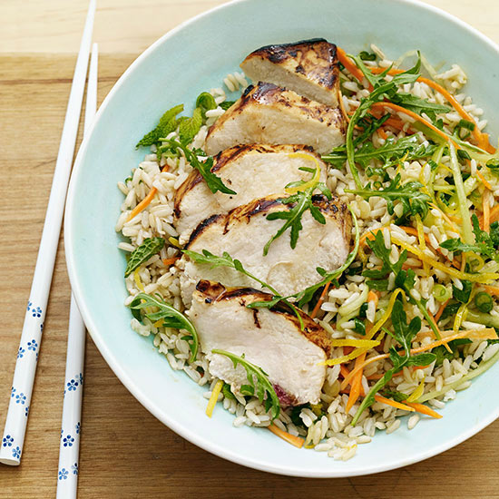Grilled Citrus Chicken Rice Bowl