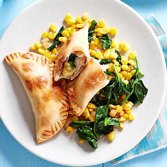 Chicken, Apple and Spinach Empanadas
