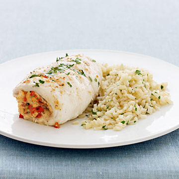 Baked Flounder with Crabmeat Stuffing