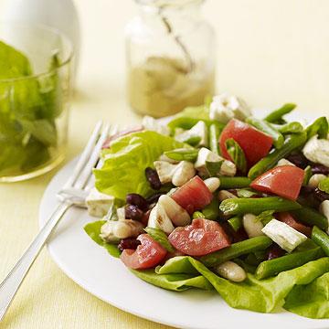 3-Bean Caprese Salad