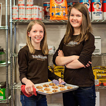 Recipe for Success: Twin Sisters Team Up to Help Needy Families