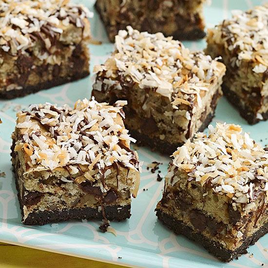 Chocolate-Coconut Bars with Walnuts