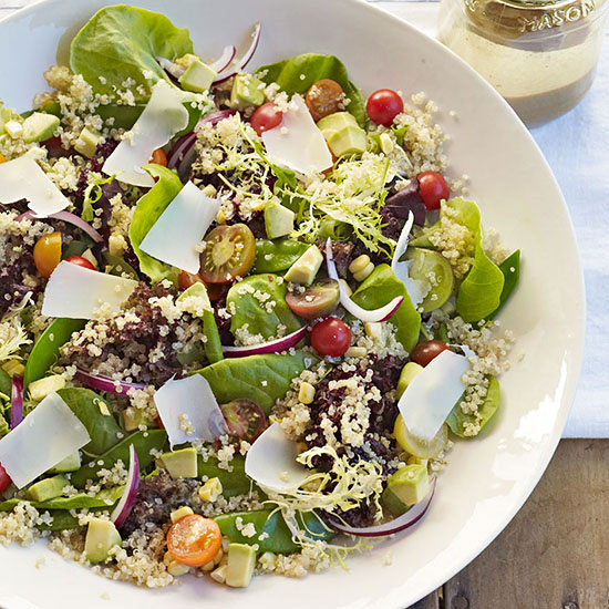 Organic Baby Lettuces and Quinoa Salad
