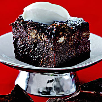 Wolfgang Puck's Chocolate Bread Pudding with Dried Cherries