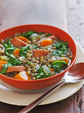 Slow-Cooker Sausage & Lentil Soup