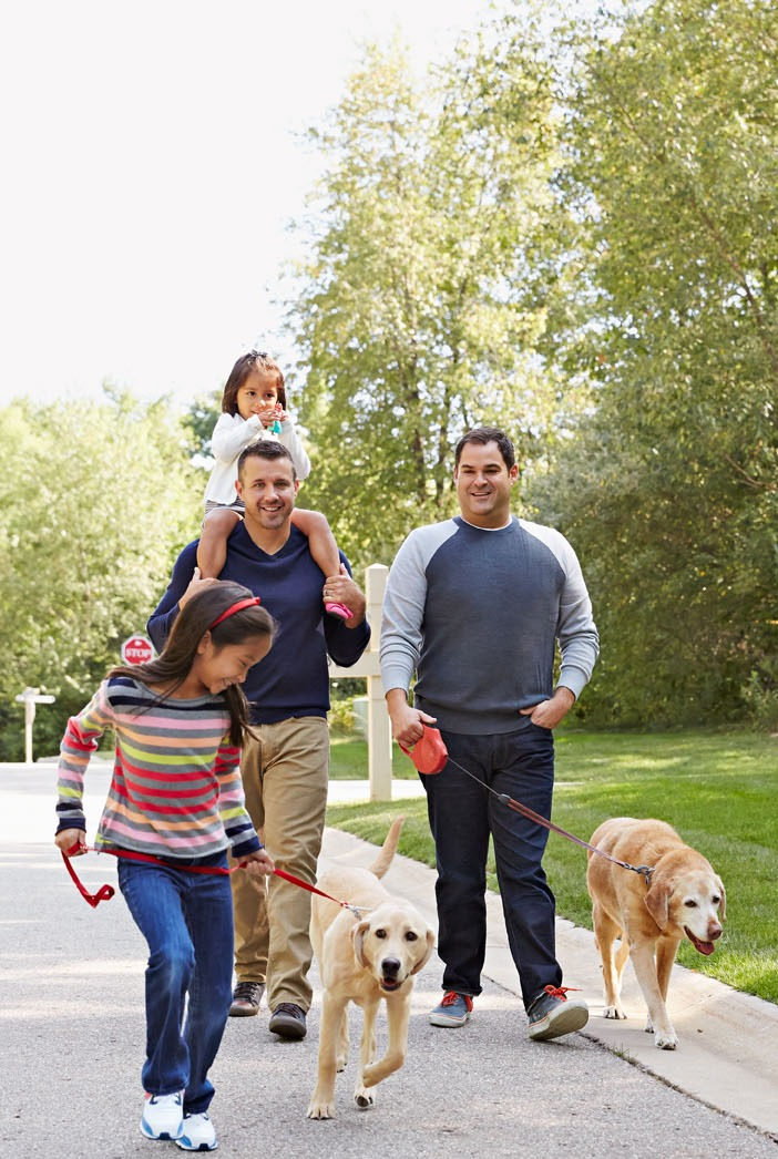 Modern Life: Two Dads, Two Kids and Two Dogs Make a Happy Home in the Heartland