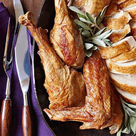 Roasted Garlic and Sage Fried Turkey