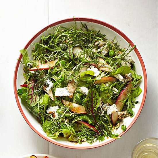 Mixed Lettuces with Pear and Blue Cheese