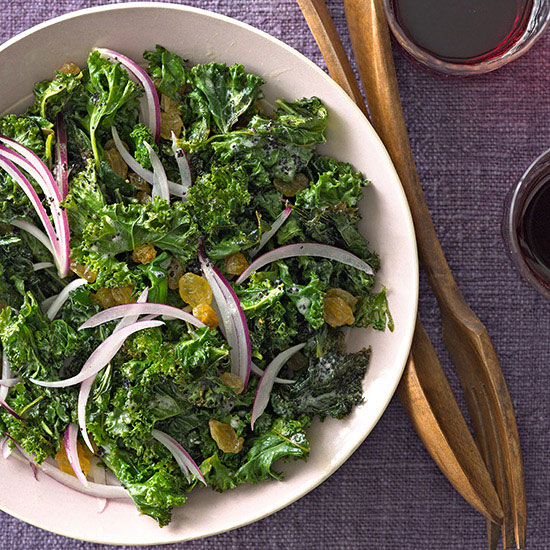 Roasted Kale with Poppy Seed Dressing
