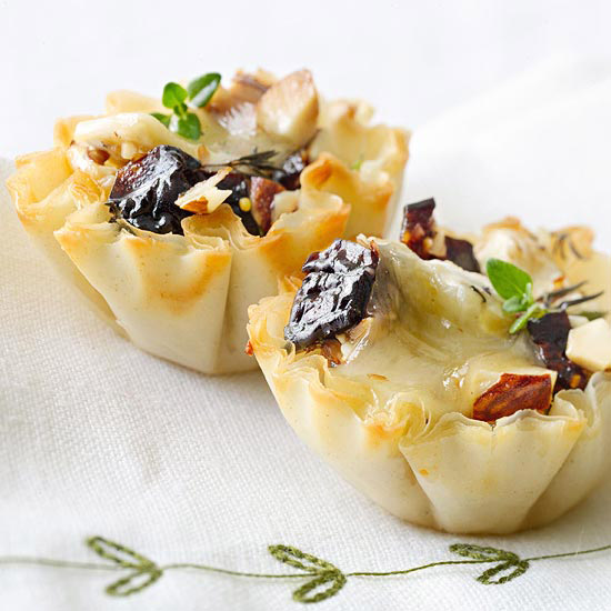 Fruit-Nut Phyllo Cups
