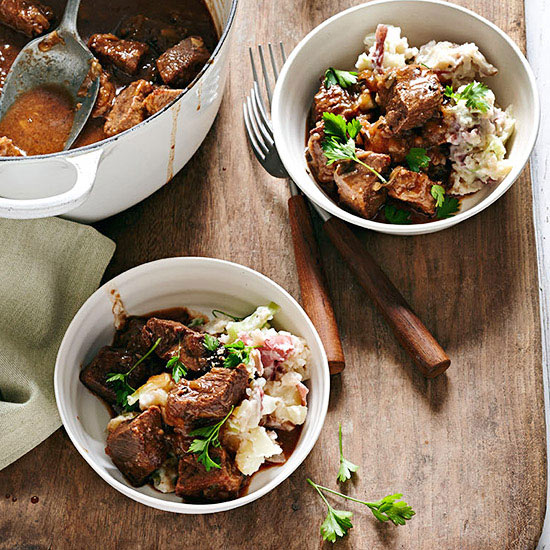 Beer-Braised Beef with Potatoes and Cabbage