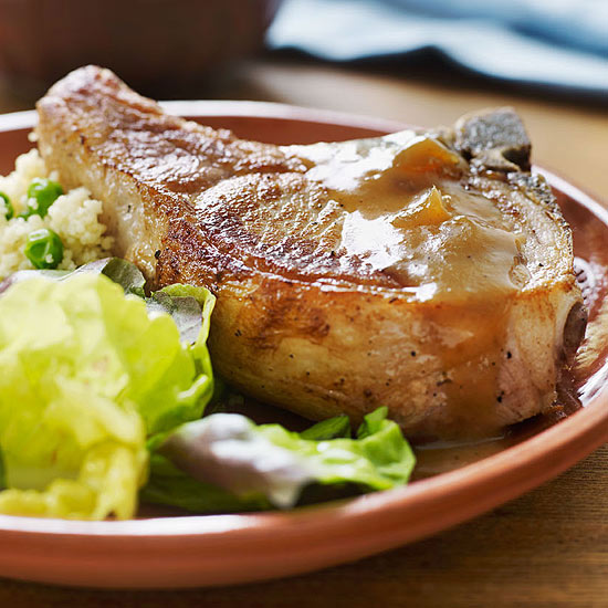 Chutney Pork Chops and Couscous