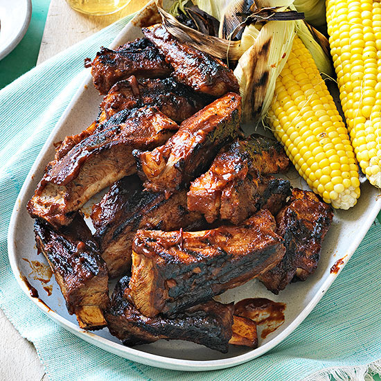 Grilled Spare Ribs with Texas Rib Sauce