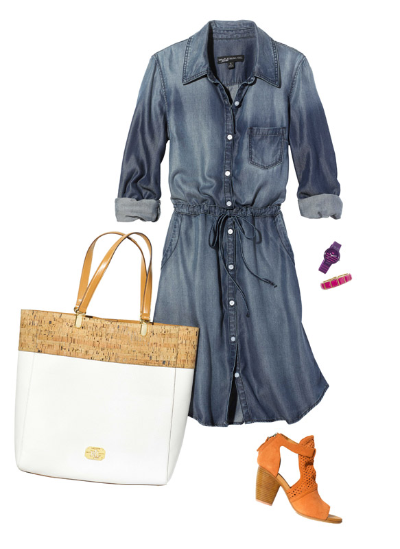 Summer: Chambray Shirtdress