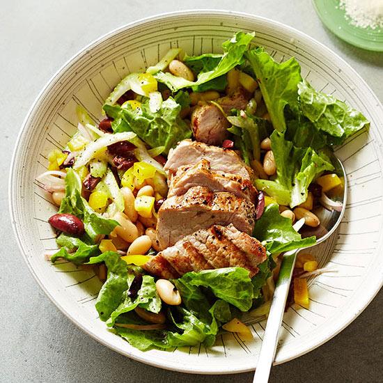 Escarole, Bean and Pork Salad