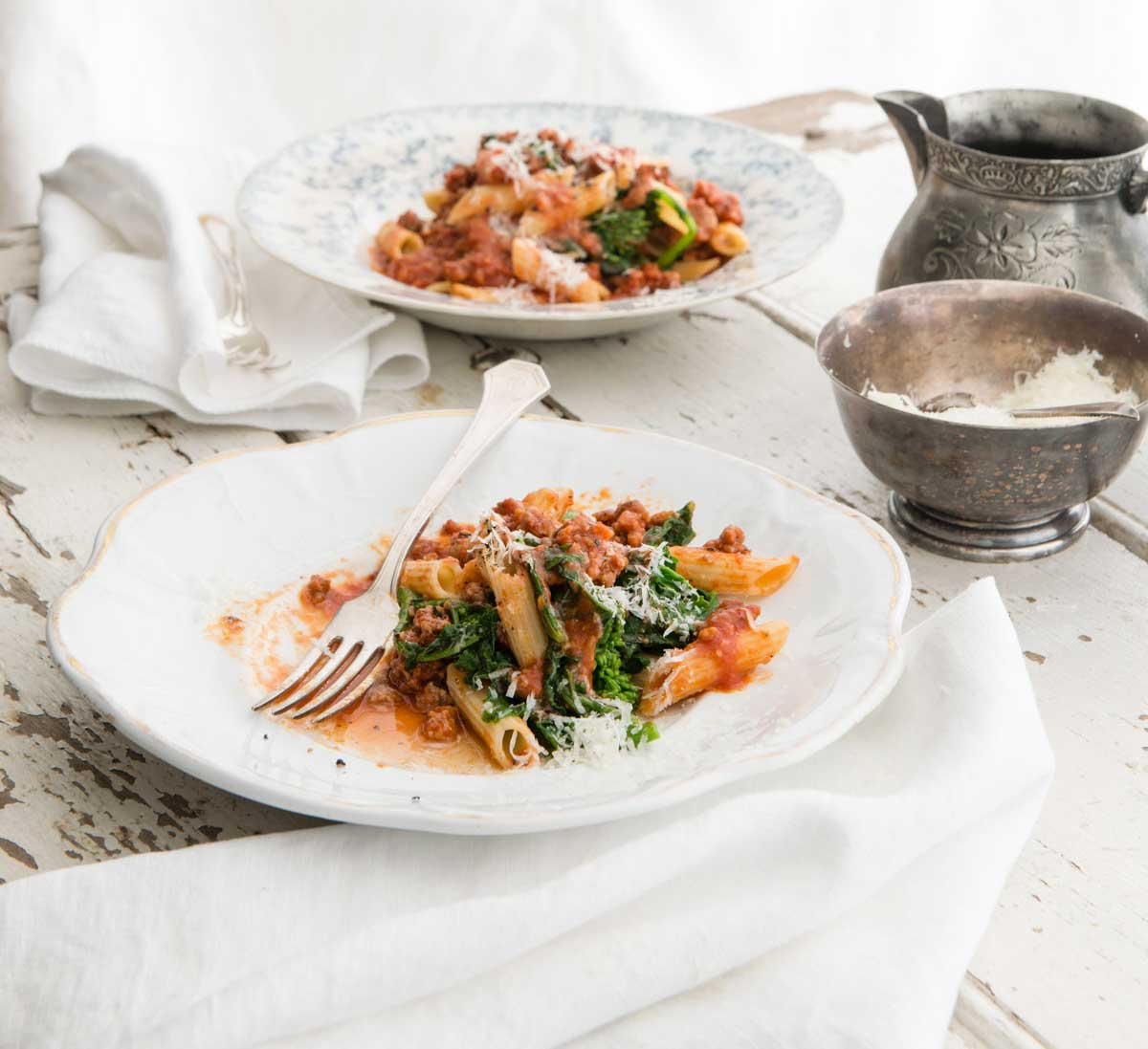 Curtis Stone's Penne with Sausage and Broccoli Rabe