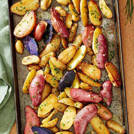 Fingerling Potatoes with Chive Vinaigrette