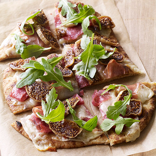Fig, Salami and Provolone Flatbread