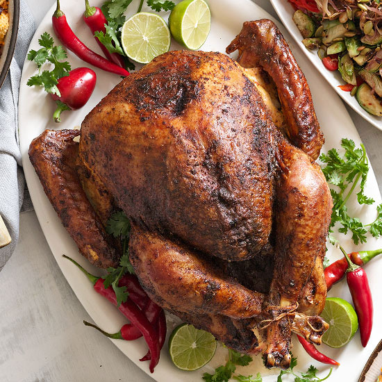 Orange Chili-Rubbed Turkey