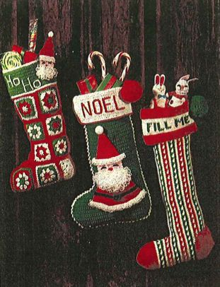 Crochet Christmas Stocking.Christmas Stockings To Knit And Crochet From Our Archives