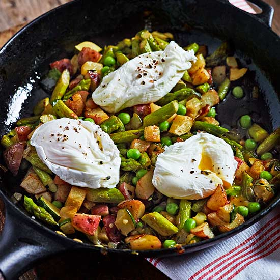 Veggie Hash and Eggs