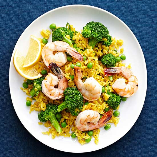 Curried Rice and Shrimp
