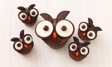 Oreo Owl Cupcake