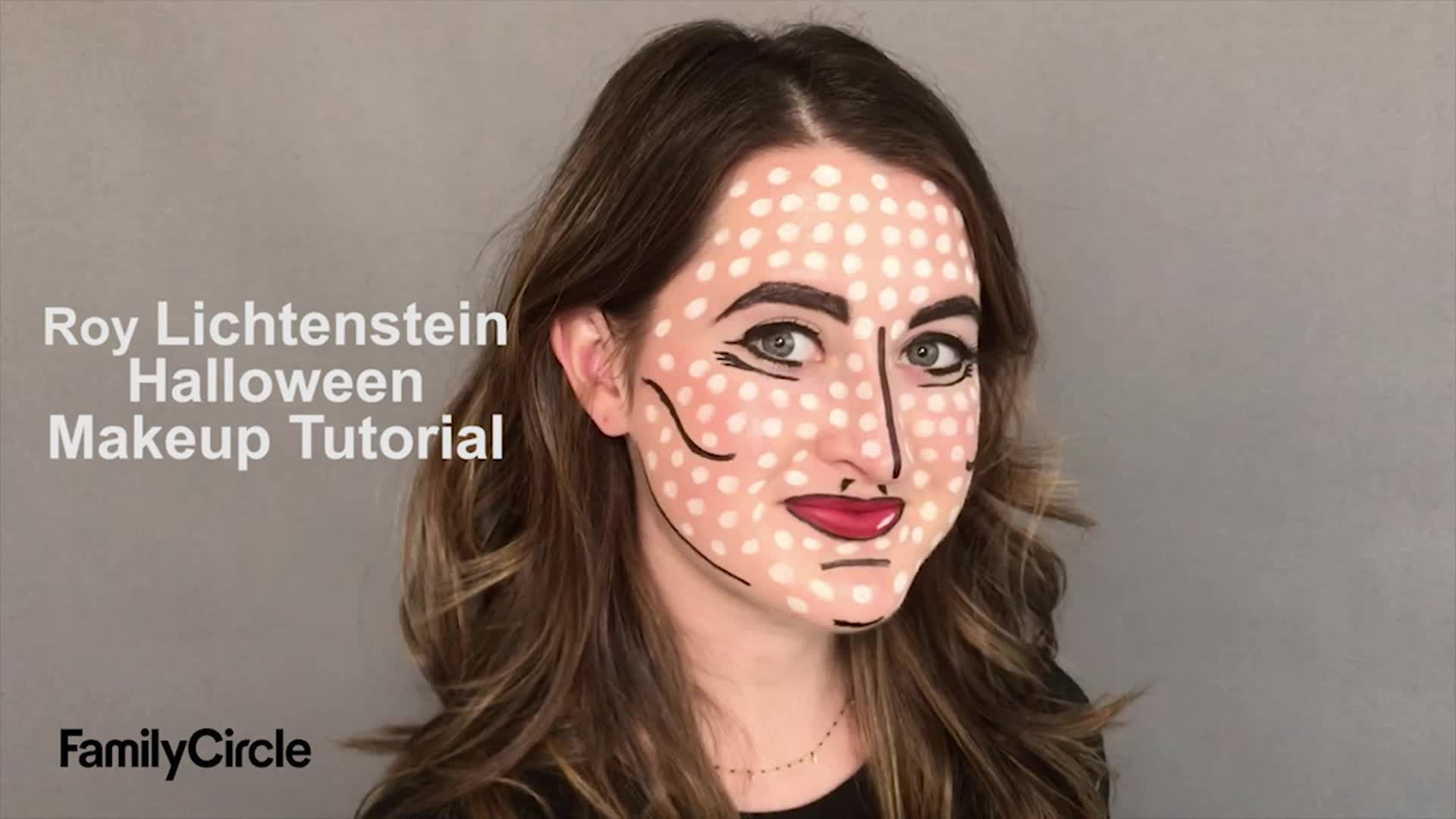 Easy Roy Lichtenstein Pop Art Halloween Makeup Tutorial