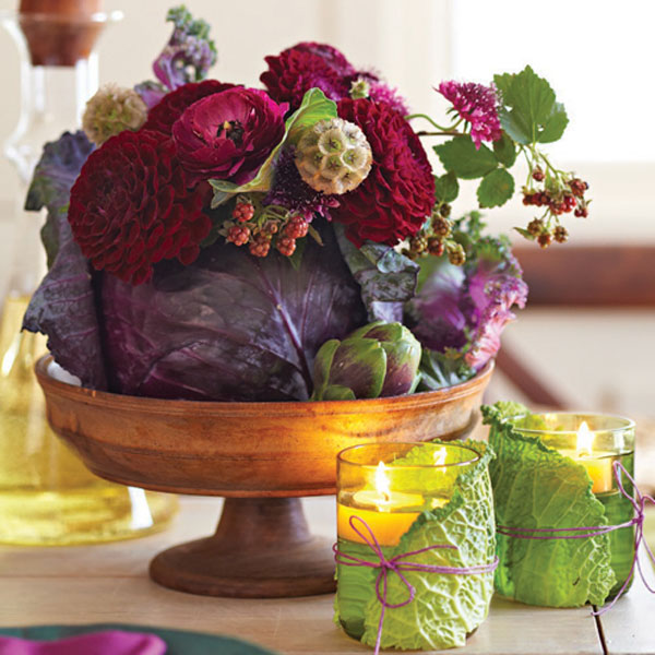 Purple Cabbage Centerpiece