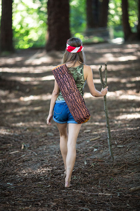 Downward-Facing Log Yoga Mat Bag