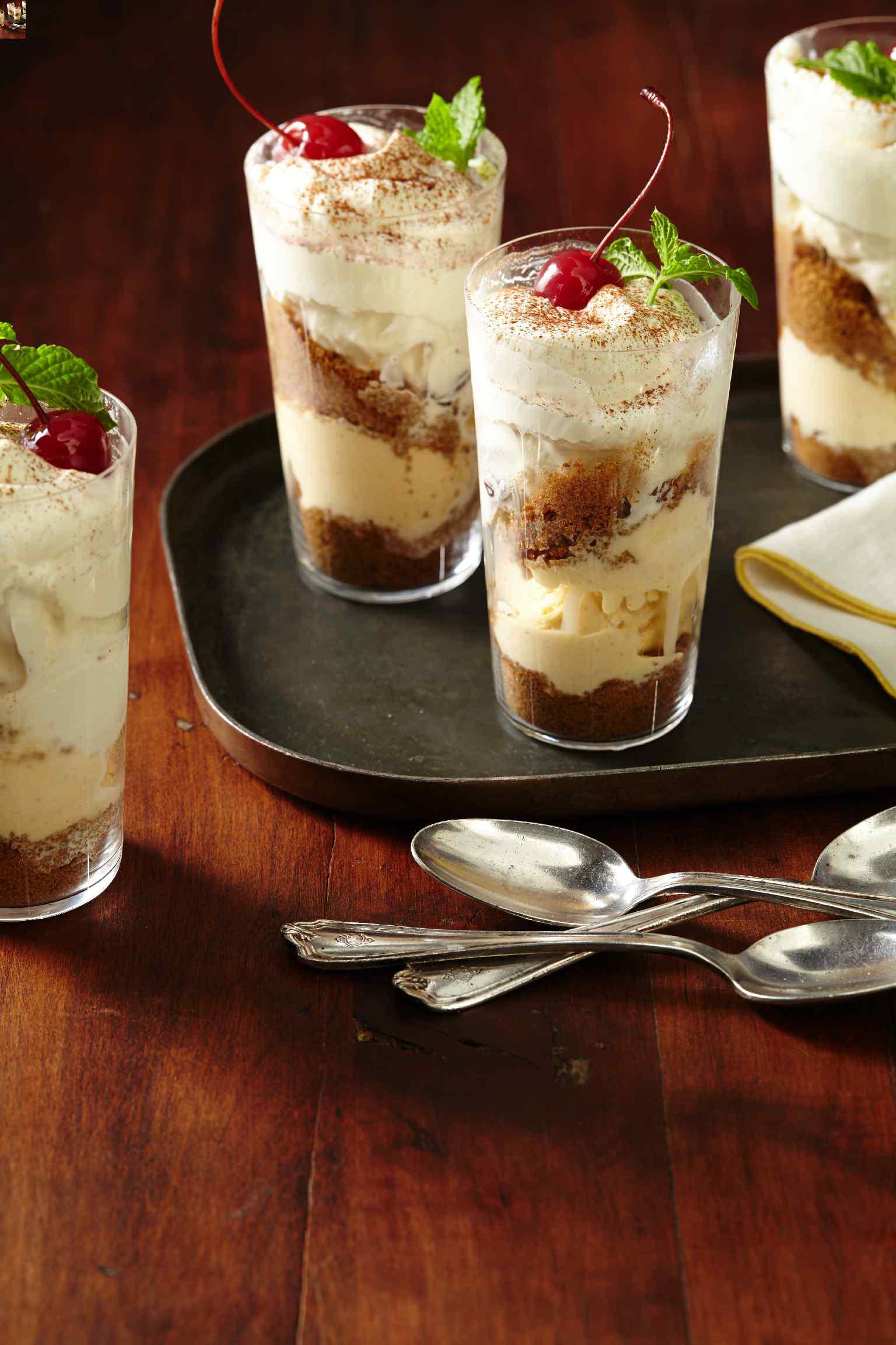 Eggnog Ice Cream Parfaits