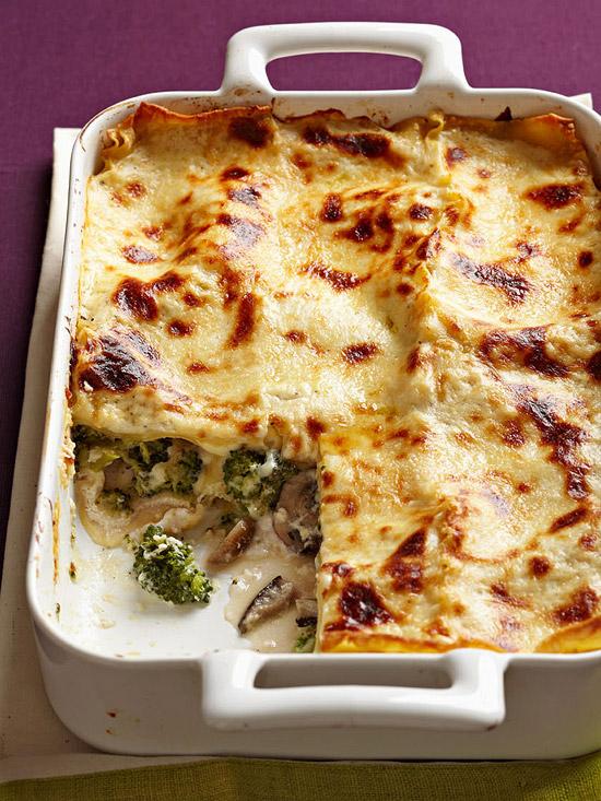 Broccoli & Mushroom Lasagna