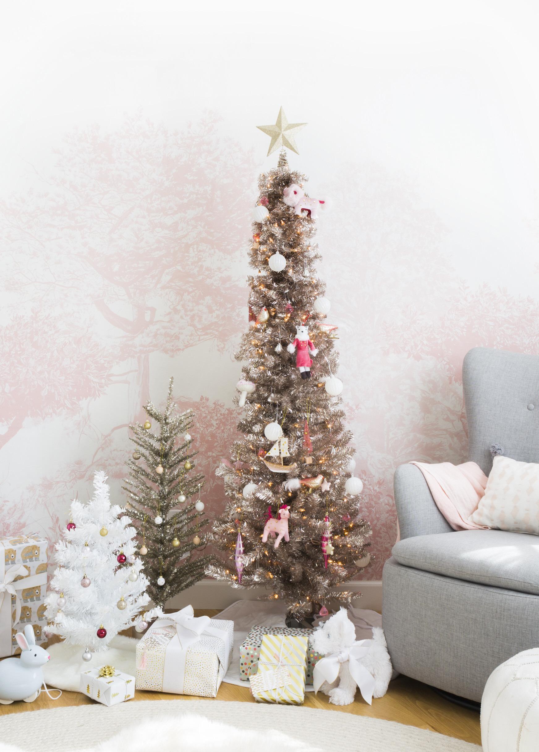 Blush-Tone Bling Christmas Tree
